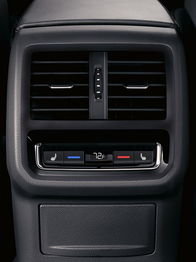 Rear seat climate controls
