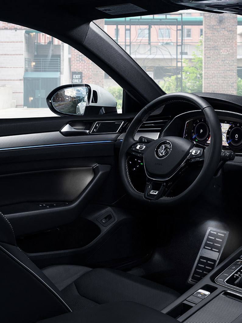 Available Titan Black Nappa Leather interior with ambient lighting