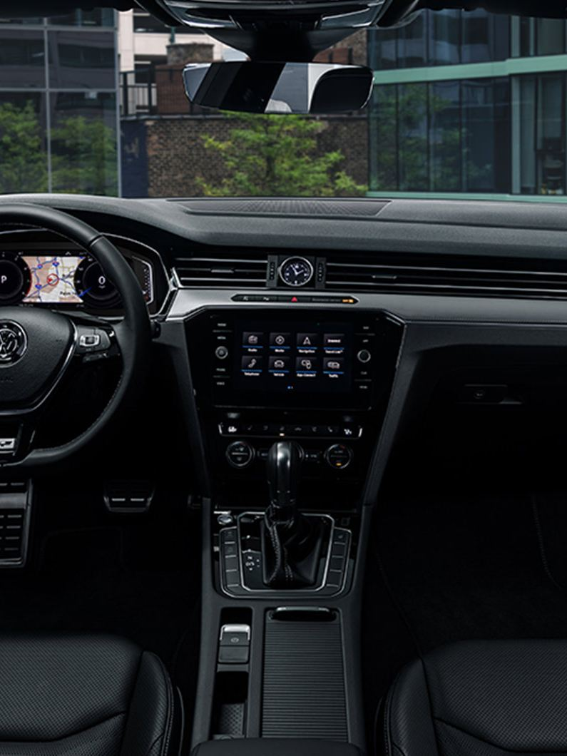 View of sporty interior featured in the Arteon SEL Premium R-Line with 4MOTION®