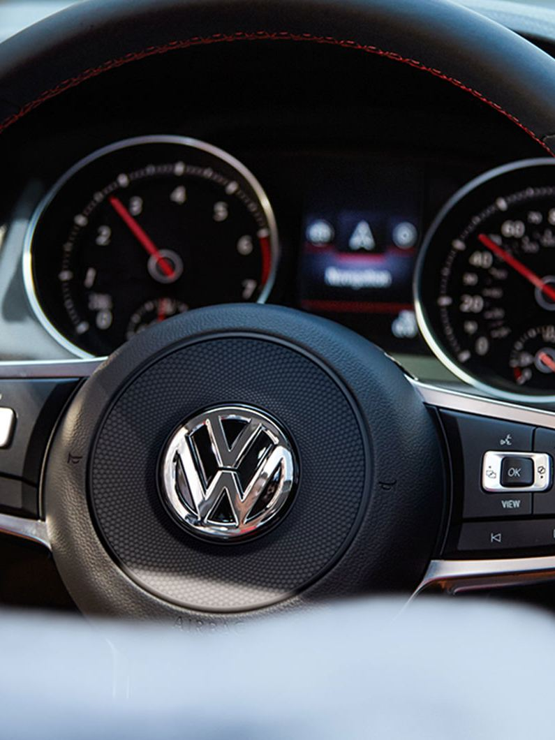 Available paddle shifters on the Golf GTI steering wheel