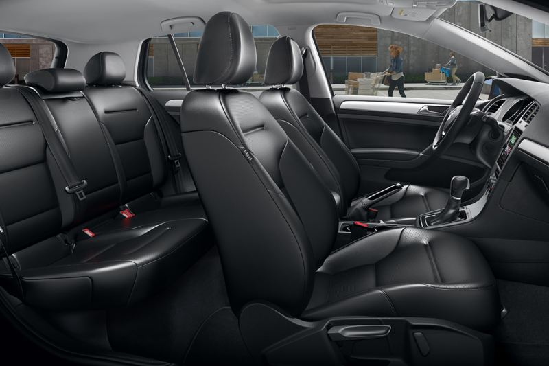 Interior profile view of Volkswagen Golf.