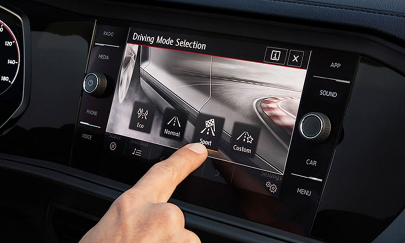 Driving Mode Selection touchscreen