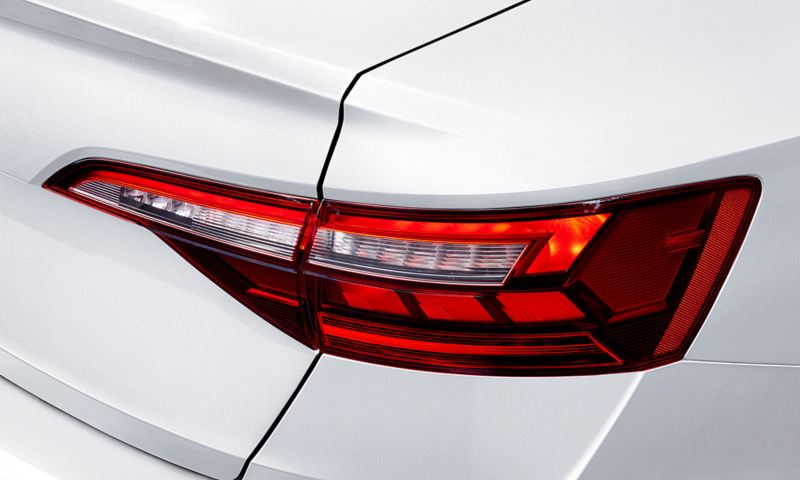 A close up of an LED taillight.