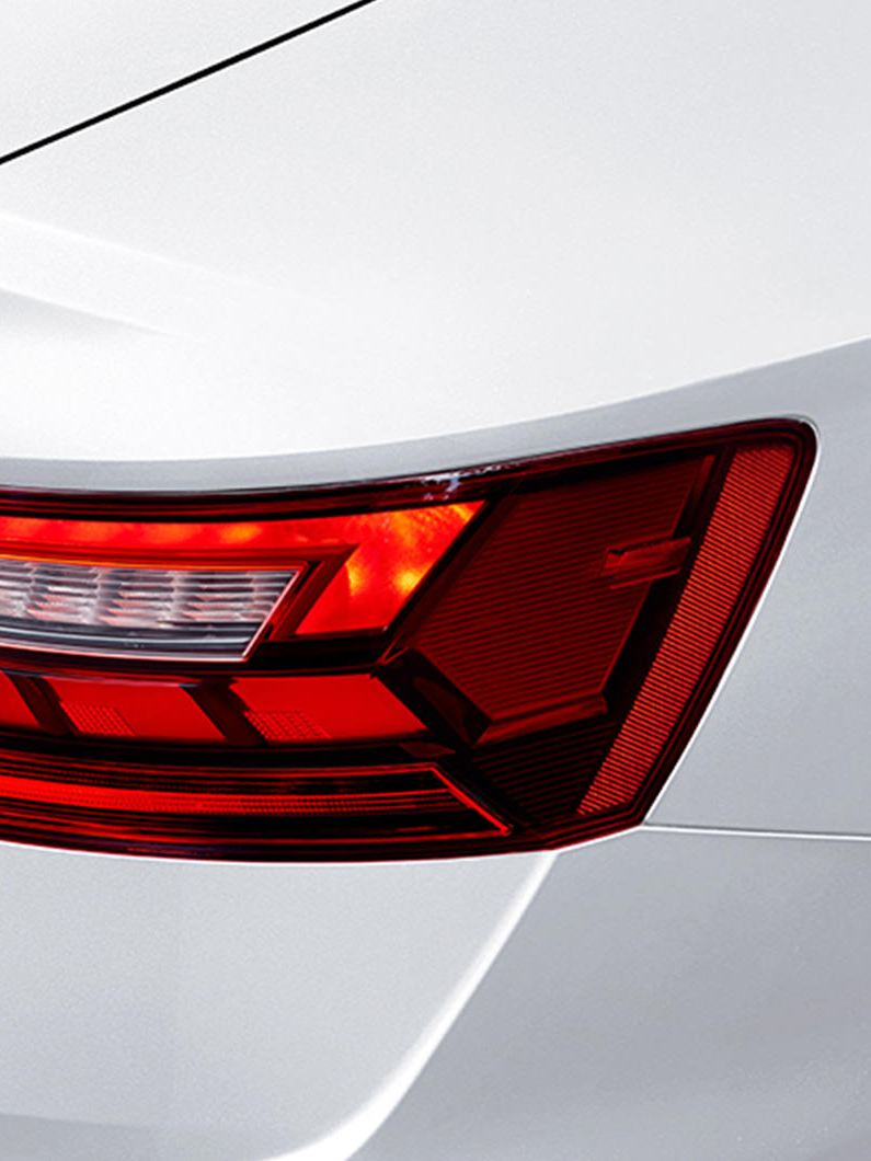 LED taillights, closeup view