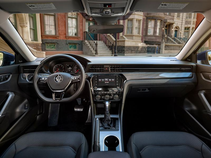 Available Titan Black leatherette interior view