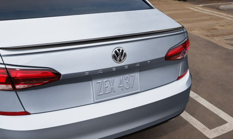 Exterior view of the Passat LED taillights