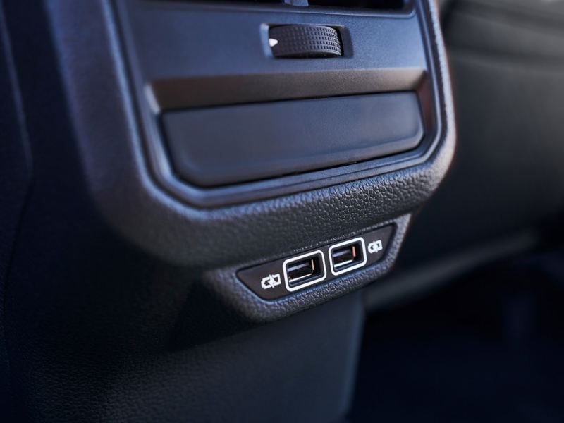 Available rear USB charging ports
