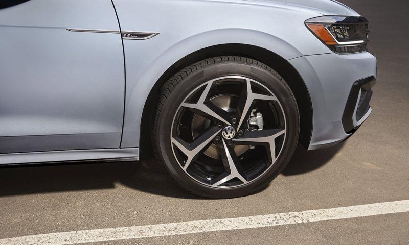 "Exterior view of Passat 19"" alloy wheel"