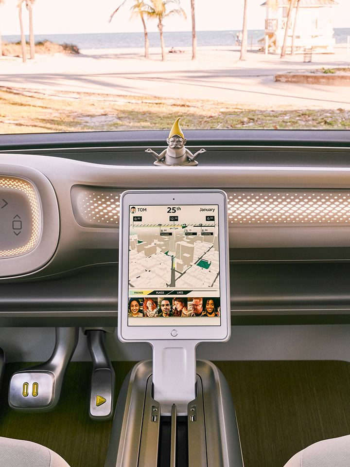 ID. BUZZ concept vehicle dashboard view