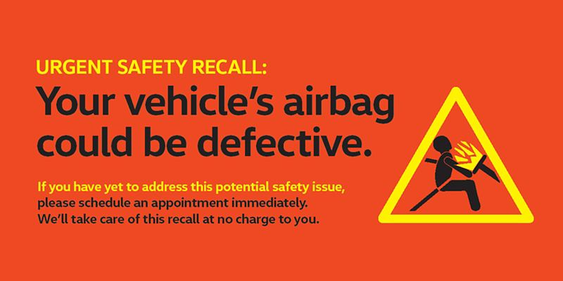Volkswagen urgent safety call for defective airbags